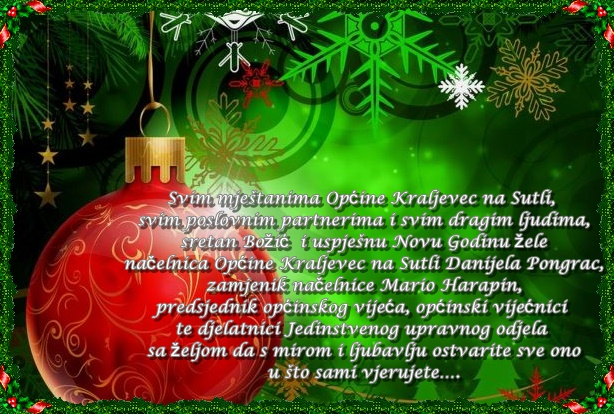 čestitke za štefanje Božićna čestitka | Općina Kraljevec na Sutli čestitke za štefanje